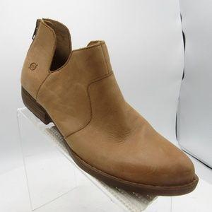 Born D89916 Size 10 Brown Nubuck Ankle Boots Shoes